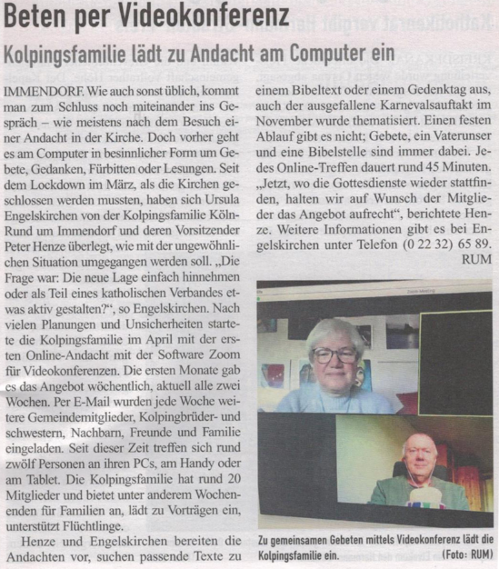 Online Andacht Immendorf