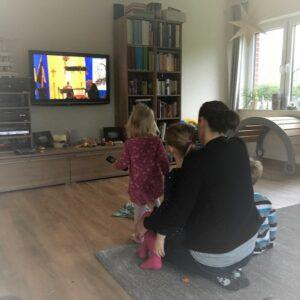 Fernsehgottesdienst in den Haushalten