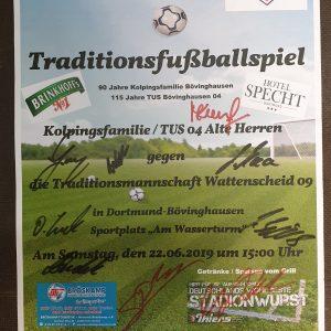 Unterschriften der Traditionsmannschaft