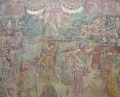 """Ausschnitt aus """"Der Triumph des Todes"""" von Bonamico di Martino da Firenze im Camposanto"""