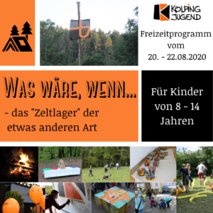 Flyer zum Alternativzeltlager 2020
