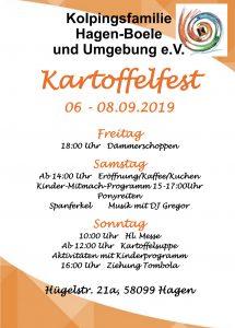Plakat Kartoffelfest