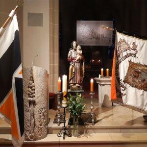 Im gemeinsamen Gottesdienst gedachten die Mitglieder der Kolpingsfamilie Kronach dem Heiligen Josef und ihres Gründungstages vor160 Jahren.