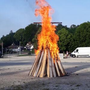 brennendes Johannesfeuer