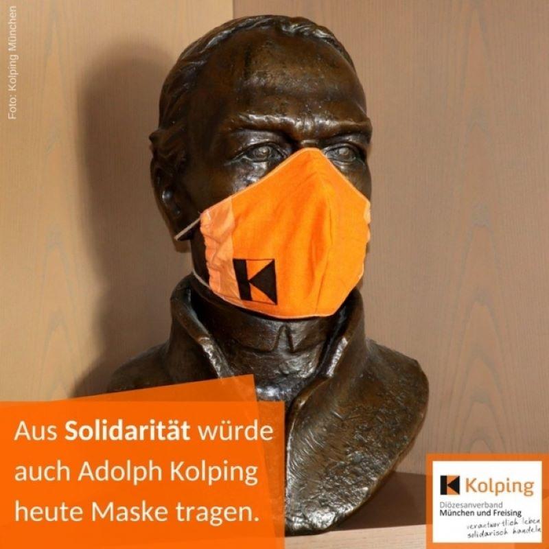 Adolph Kolping würde heute eine Mund-Nasen-Maske tragen