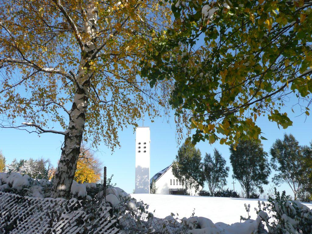 Kreuzkapelle Schirgiswalde im Winter