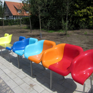 Kunst Skulptur Sitzfläche Verl Bürmsche Wiese