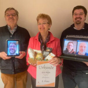 Platz 2: Lothar, Gabi und Dominik Koch virtuell Oliver Bergau
